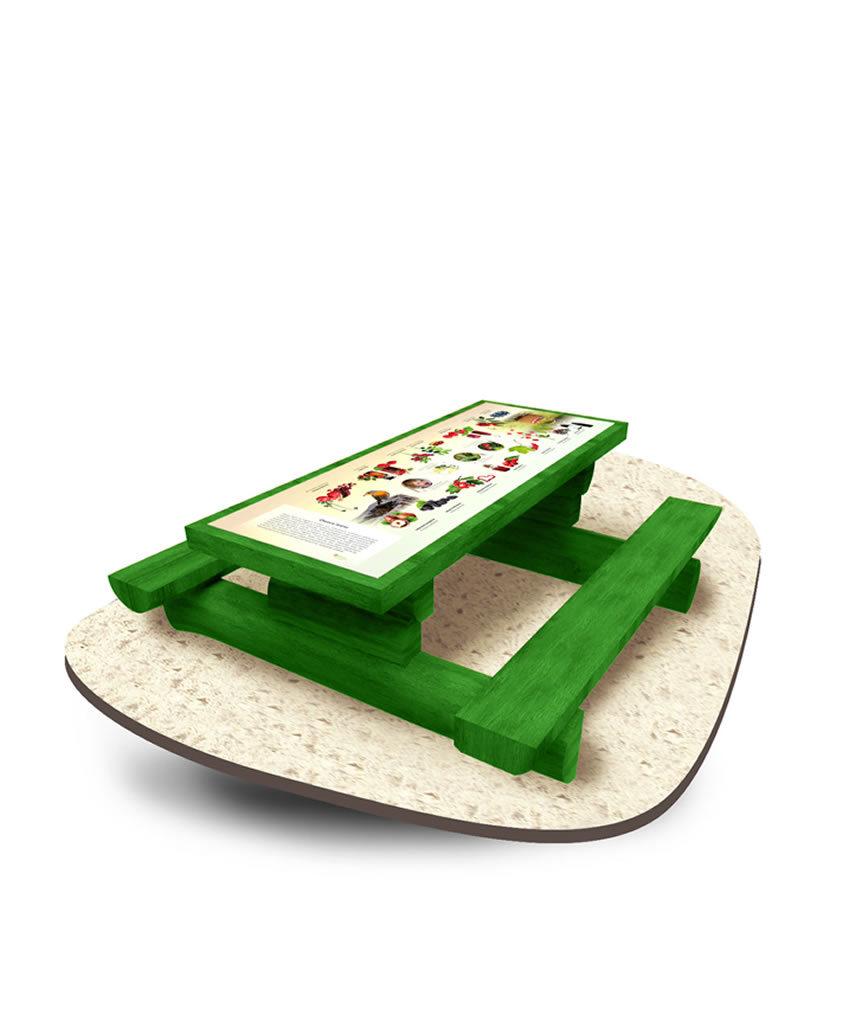 Stół z półbala dębowy